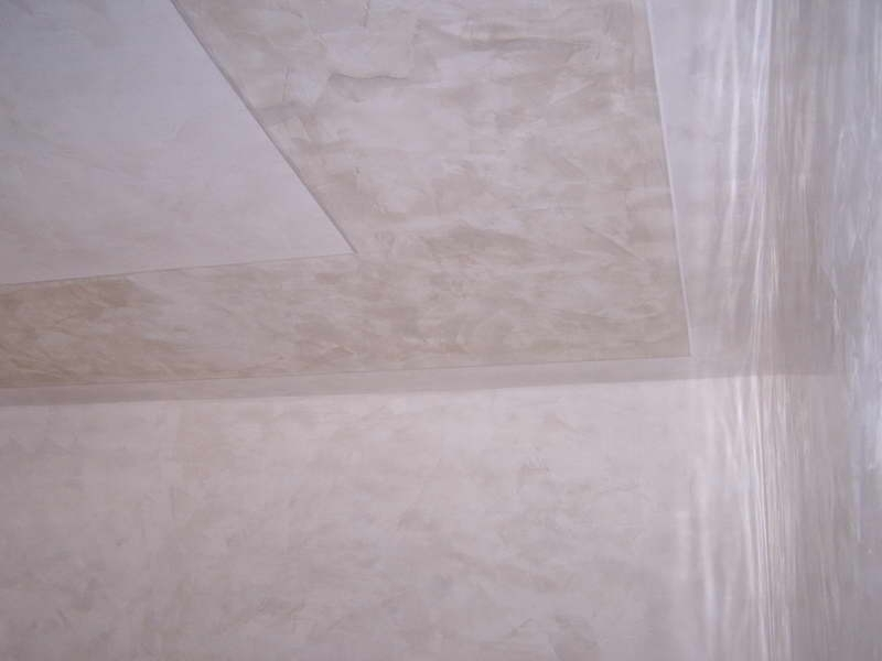 Marble plaster with simple border - calce antica, stucco veneziano