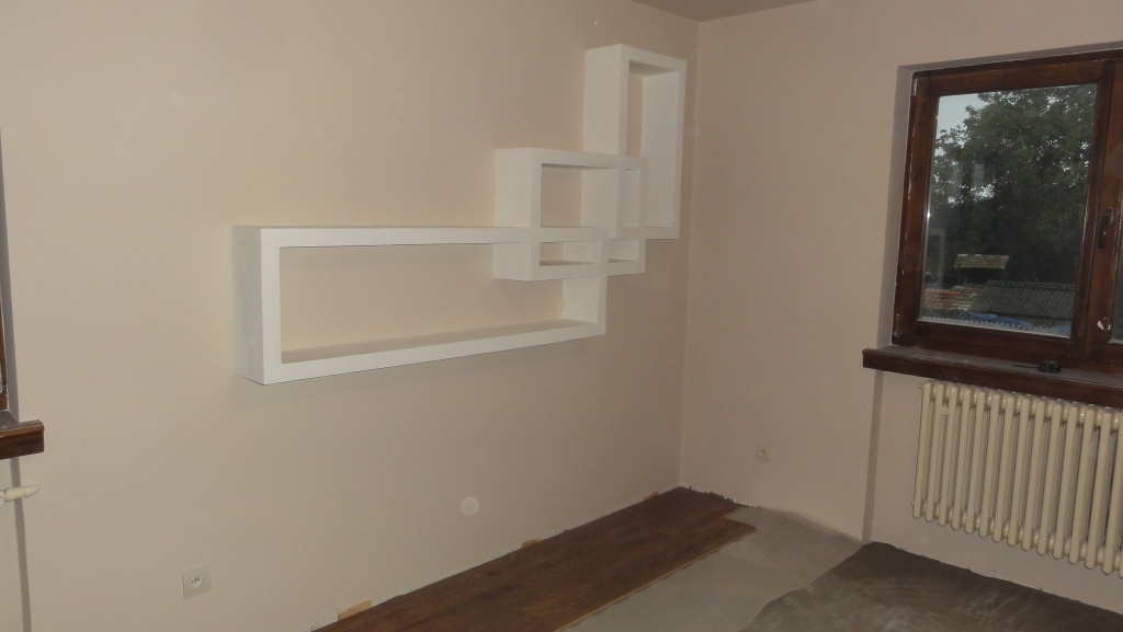 Drywall shelf