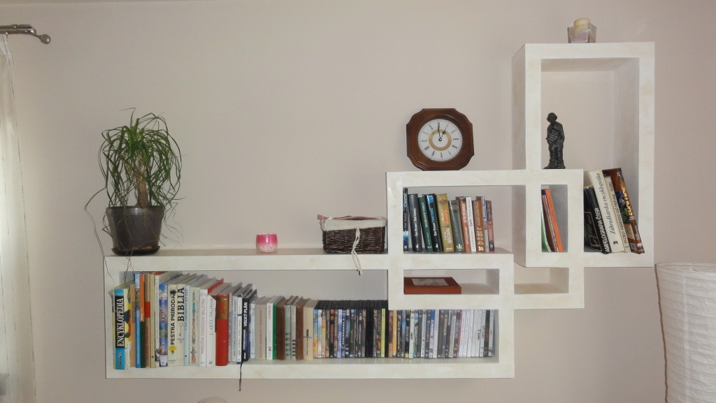 Drywall shelf - great place for books